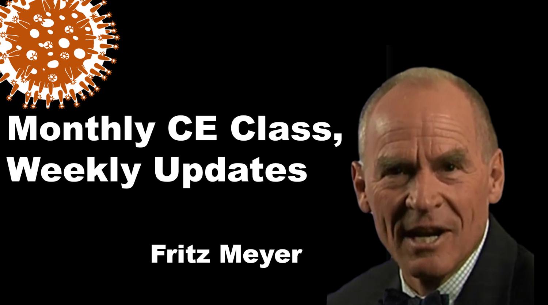 Coronavirus Financial Economic News For Advisors From Fritz Meyer
