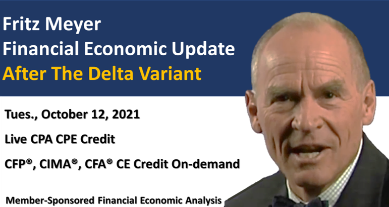 GDP Pickup Expected In Fourth Quarter; Fritz Meyer Economic Update, October 2021