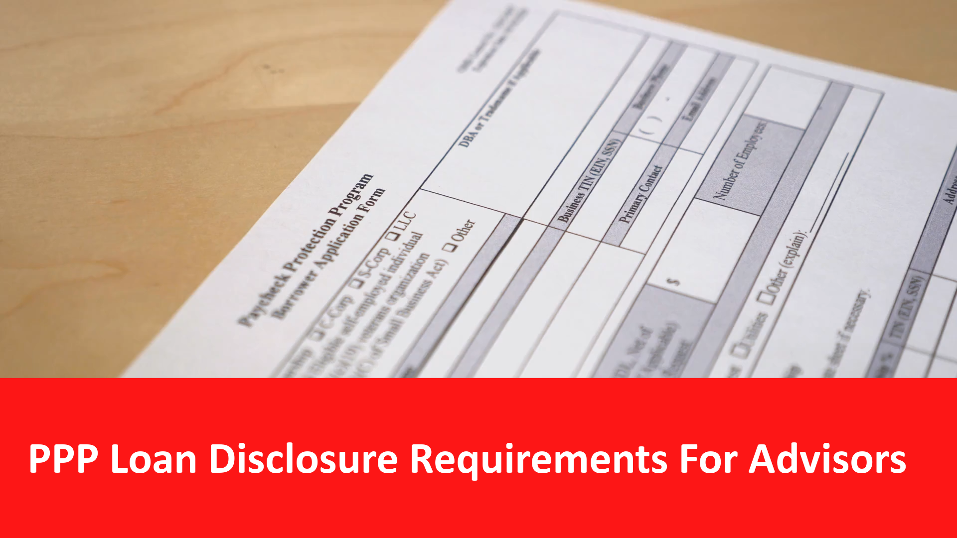 RIA PPP Disclosure Requirements