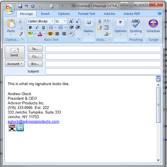 How to make email signature in outlook with logo
